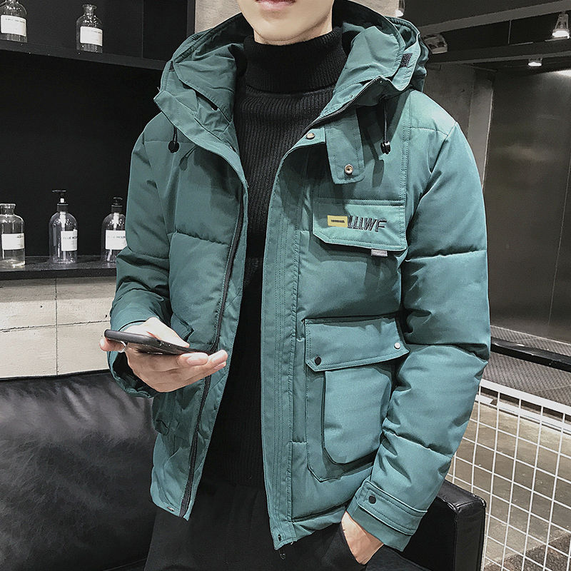 new winter men windbreaker parka casual oversize zipper jacket hooded thicken and warm hooded outwear coat large size 5xl 2020 New Winter Men Parka Big Pockets Casual Jacket Hooded Solid Color 5 colors Thicken And Warm hooded Outwear Coat Size 5XL