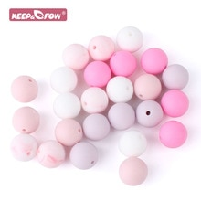 10pcs 15mm Silicone Beads PBA Free Baby Teething Products Chews DIY Pacifier Chain Clips Round Ball