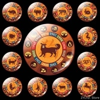 animal constellation fridge magnet zodiac sign refrigerator magnets 12pcsset dog cattle pig rabbit tiger decoration stickers
