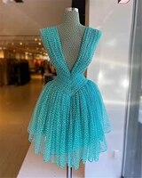 2021 sky blue short evening dresses elegant evening gowns party gown homecoming dress abendkleider