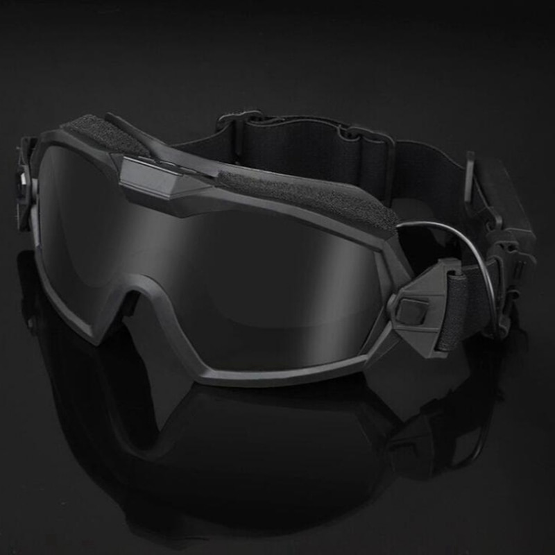Men's Combact Tactical Military Airsoft Goggles Wargame Paintball Eyes Portection Safety Galsses Fits Tactical Helmet Goggles