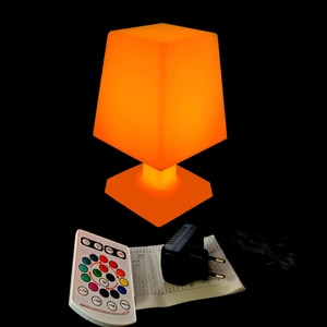 L16*W16*H25 New Arrival 16 Colour Changeable Waterproof LED RGB Table Lamp Light for Christmas Atmosphere Mood Free Shipping 1pc