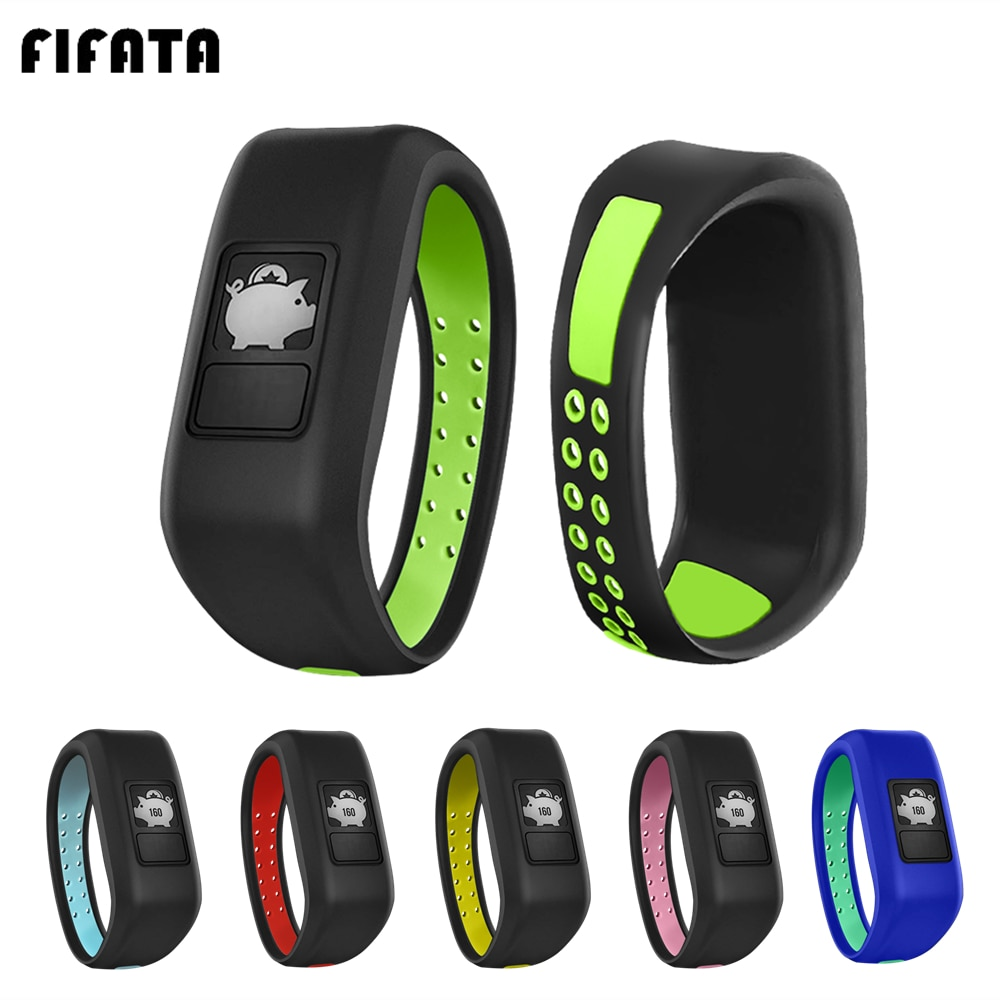 FIFATA Silicone Bracelet Wriststrap For Garmin Vivofit 3/Vivofit JR/JR 2 Kids Watch Band Sports Colo