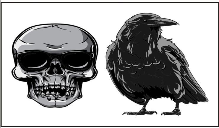 Waterproof Temporary Tattoo Sticker skull head eagle crow bird Flash Tatoo Fake Tatto Neck Wrist Foot hand For Girl Men Women