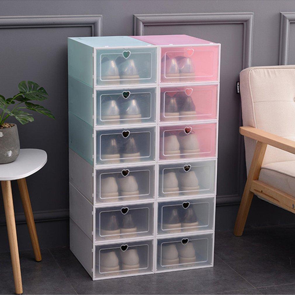 Foldable Shoe Box Transparent Plastic Shoe Rack Storage Bins Drawers Combination Flip Cover Room  Drawer Organizer Shoe Hanger