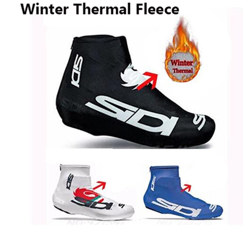 De lana térmica de invierno hombres deportes protector para Calzado de ciclismo...