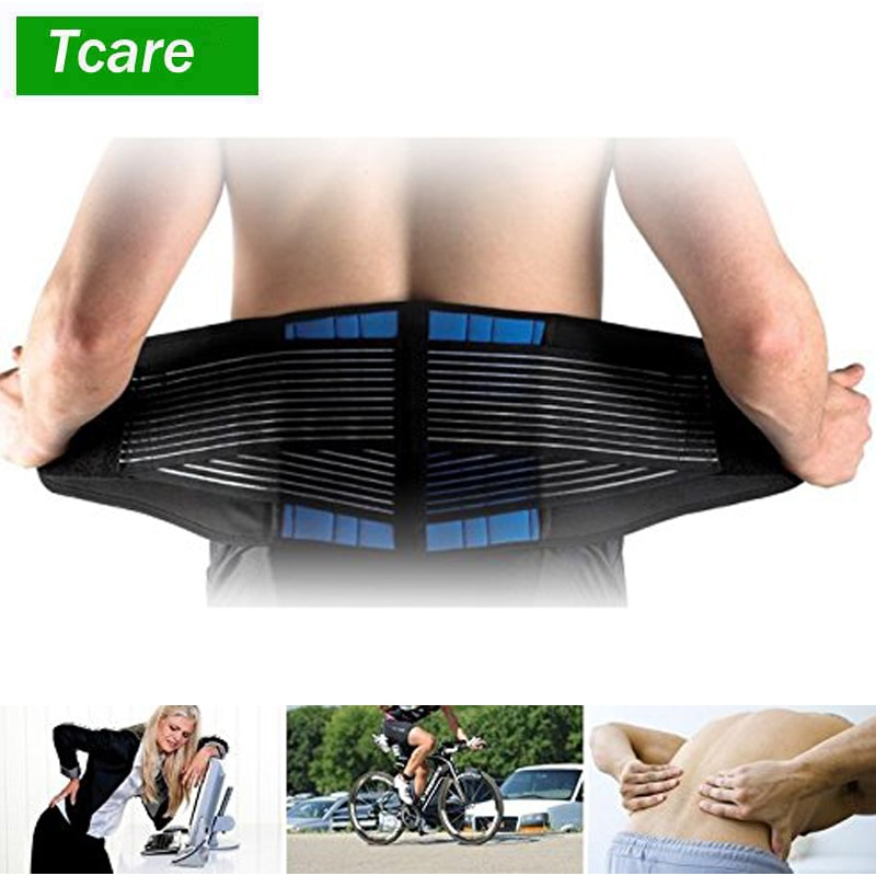 Tcare Adjustable Neoprene Double Pull Lumbar Support Lower Brace Pain Relief Waist Band S-6XL Plus S