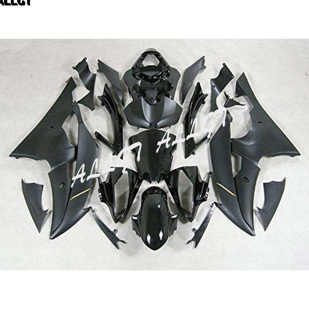 Kits de carenado de moldes de inyección de plástico ABS para Yamaha YZF-R6 2008-2016 (negro mate)