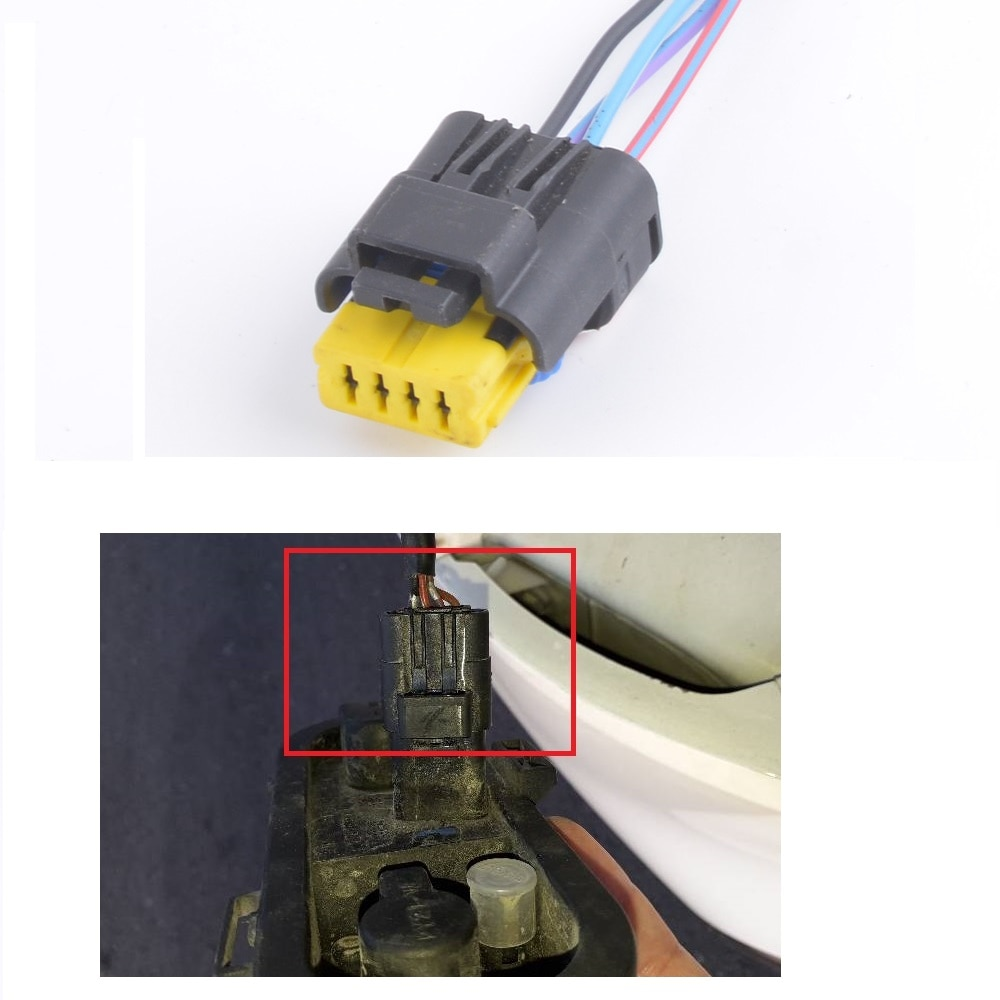CAPQX 4Pin para Nissan Qashqai 2008-2012 luz trasera bombilla enchufe talight luz de freno Luz de bulbo de lámpara conexión de Socket conector