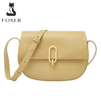 Женская сумка-мессенджер из спилка FOXER