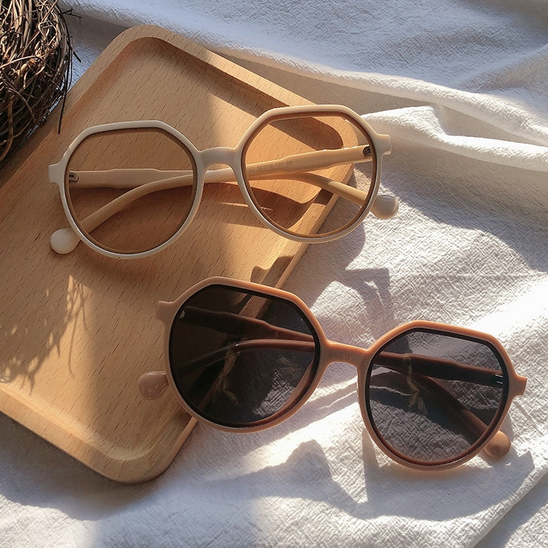 All-match Trend Sunglasses For Women Personalized Trend Candy Color Big Frame Sunglasses Round Frame