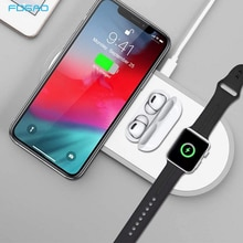 3 en 1 Qi chargeur sans fil pour Apple Watch iPhone 11 XS Samsung S20 QC 3.0 10W chargeur rapide pour iWatch 5 4 3 2 Airpods Pro