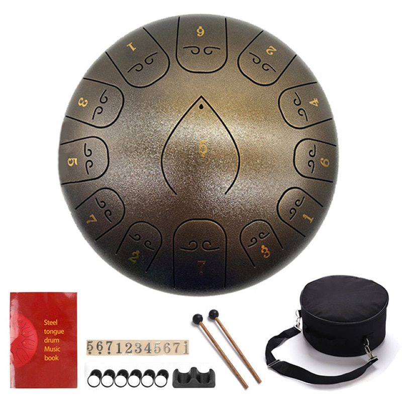 Tongue Drum Ethereal Drum 300x300mm Percussion Instruments Tune Steel Drum Tank Drums Percussion Instruments Handpan Gift Kid enlarge