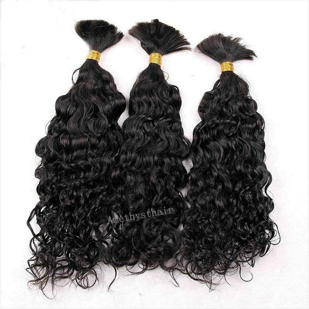 Волнистые человеческие волосы насыпью для плетения, бразильские волосы Remy, плетение без уточка, 3 пряди, человеческие волосы для наращивани...