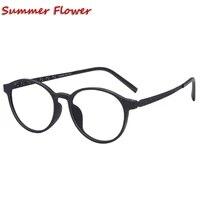round tr90 eyewear vintage frame titanium temple prescription glasses ultra light flexible men frame optical glass eyewear