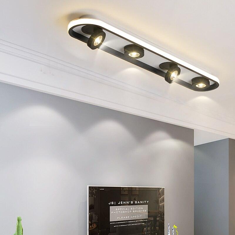 NEO بريق سقف ليد حديث أضواء لغرفة المعيشة بهو متجر Led بقعة سقف جبل أضواء السقف إضاءة داخلية أسود أبيض