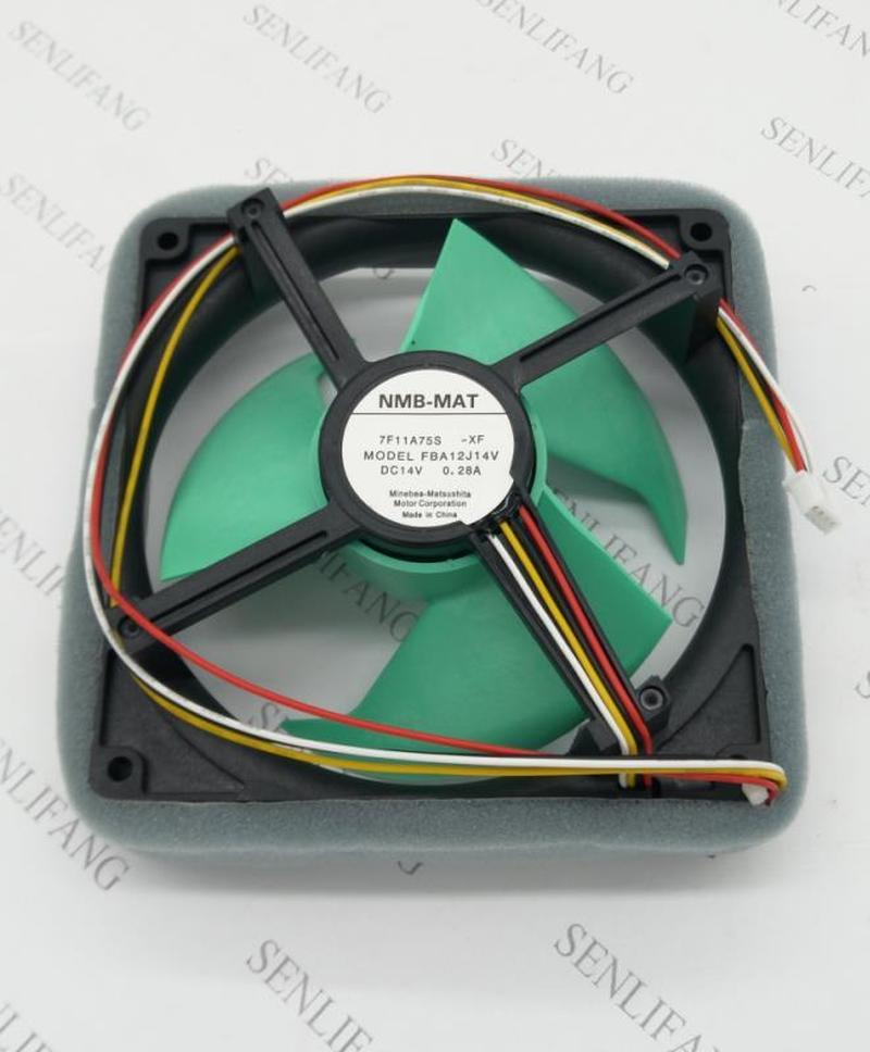FBA12J14V 7F11A75S ventilateur de réfrigérateur DC 14V 0.28A 125x125mm 4 fils
