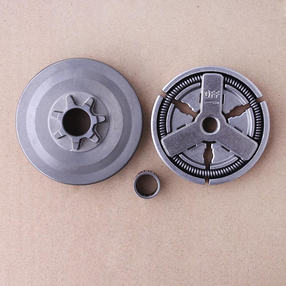 Барабан сцепления + крышка сцепления + комплект игольчатых подшипников для китайских 4500 5200 5800 45cc 52cc 58cc Запчасти для бензопилы