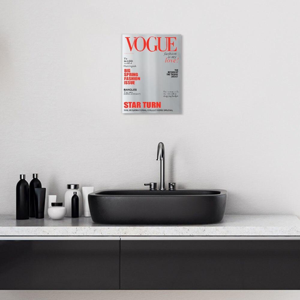 Magazine Cover Espelho Supermodel Imitando Refletor