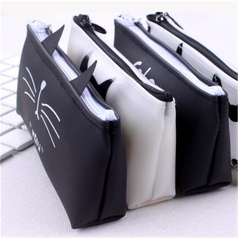 Креативные школьные чехлы-карандаши Kawaii Cat, милая гелевая ручка, вместительная коробка, сумка для офиса, школы, стационарные принадлежности