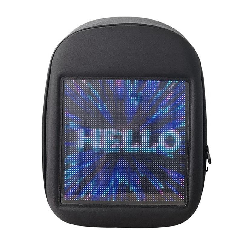 Novel Smart Led Backpack Cool Black Customizable Laptop Backpack Innovative Christmas Gift School Bag