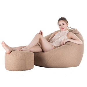 One Set Bean Bag Cover Lazy Leisure Sofa Bed No Filler Bean Bag Chair Living Room And Bedroom Couch Japanese Tatami Puff Sofas