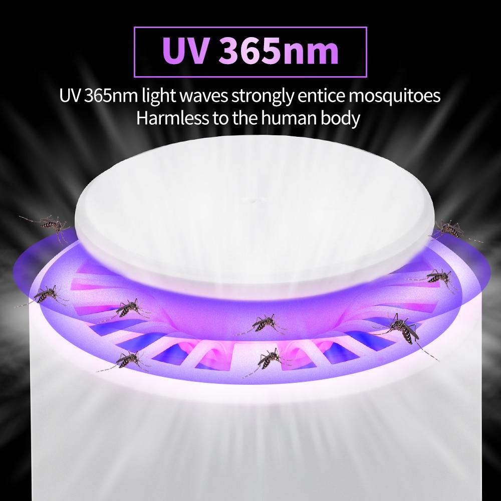 Lámpara LED antimosquitos para matar insectos, Led UV fotocatalítica con USB, trampa...