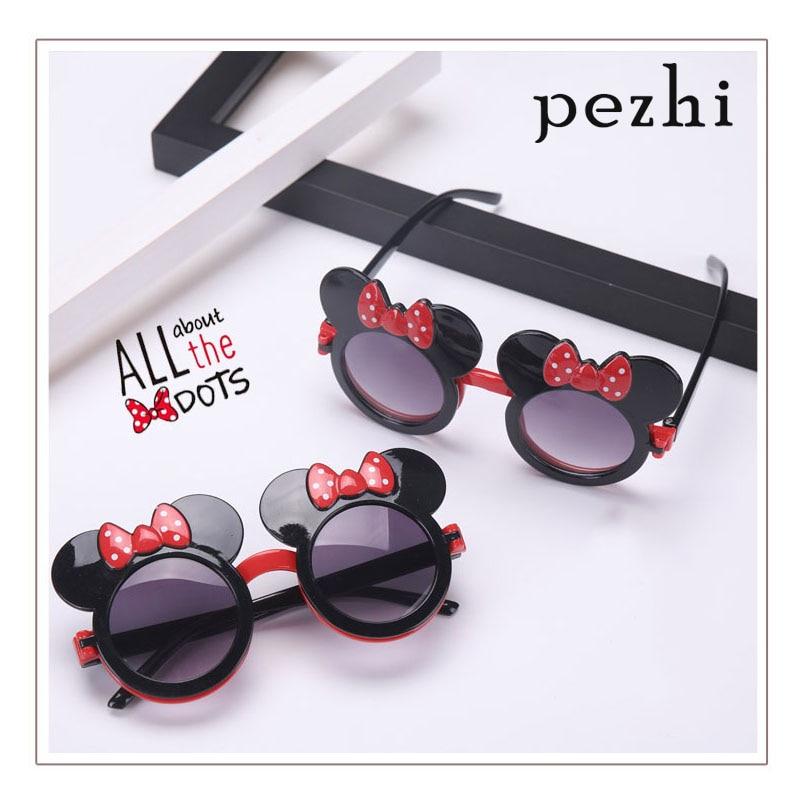 Cartoon sunglasses flip cute sports outdoor girl Red bow travel children sun visor glasses frames