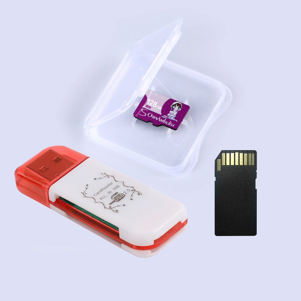 Portable 128GB Memory Card 4 IN 1 High Speed Micro Secure Digital Memory Card set