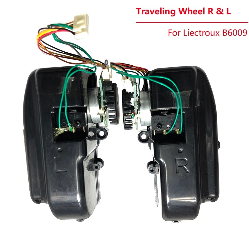 Replacement Traveling Wheel for Liectroux B6009 Robot Vacuum cleaner Spare Parts Right and Left Wheel Accessory Black