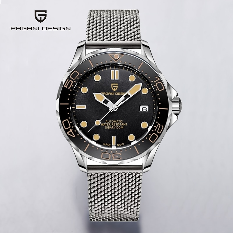 PAGANI DESIGN 007 Men's Watches 2020 Mechanical Automatic Watch Men Brand Luxury 100M Waterproof NH35 Clock Relogios Masculino pagani design new 007 commander men s mechanical watches top brand luxury watch men 100m automatic waterproof fashion wristwatch