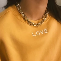 new hip hop exaggerated thick chunky chain necklace steampunk maxi collar choker necklace men women jewelry girl gift