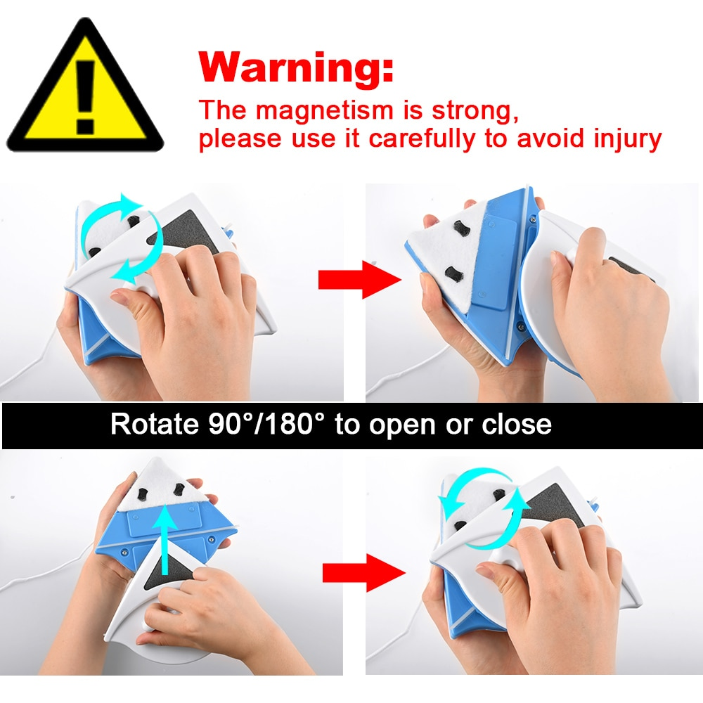 Double Side Magnetic Window Cleaner Brush for Washing Windows Glass Cleaning Household Wash Window Wiper Magnet Glass Cleaner enlarge