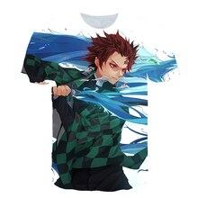 Anime devil killer series cartoon mens hospital round neck short-sleeved T-shirt popular logo trend loose print top summer clot