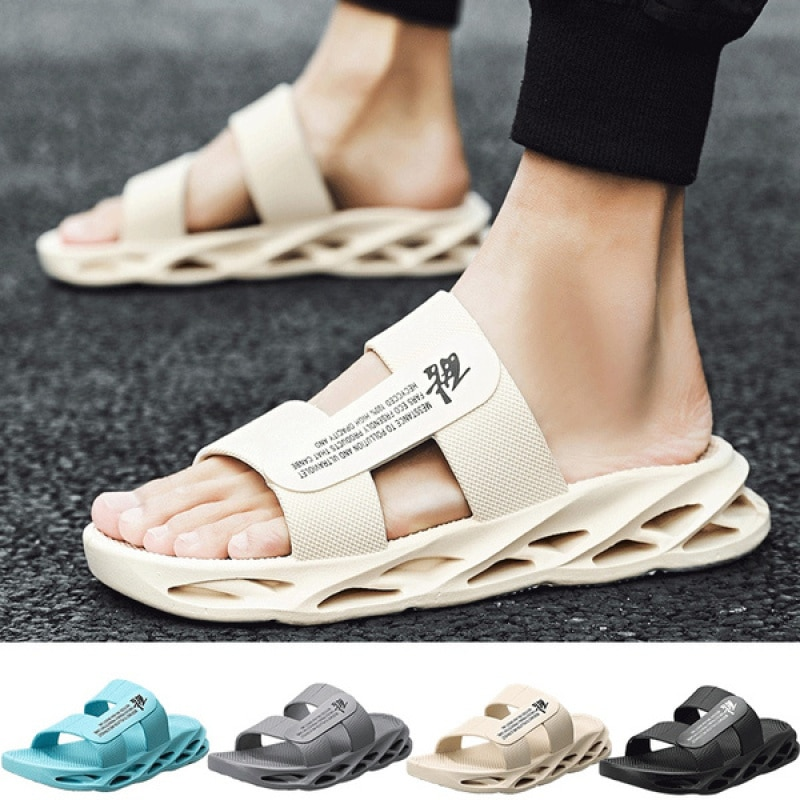 Summer Men's Blade Sole Cool Sandals and Slippers Home Outdoor Wading Sandals Lightweight Men's Shoe