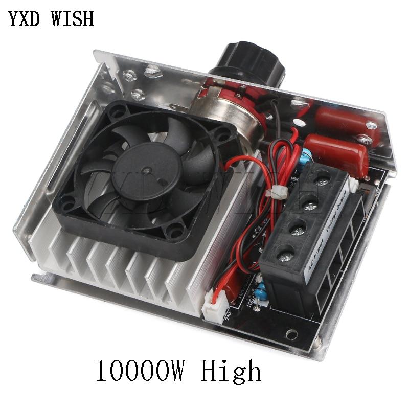 منظم الجهد 10000 واط ، AC 220V ، 75A ، SCR ، منظم السرعة ، باهتة ، ترموستات ، مروحة تبريد ، تيار متردد 110-220 فولت