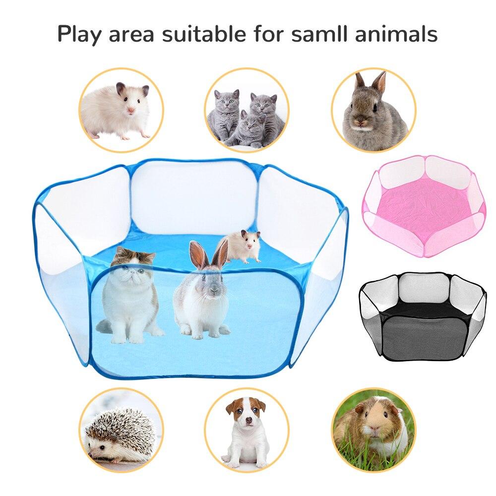 Jaula para mascotas pequeña y portátil, jaula de erizo transparente, tienda de...