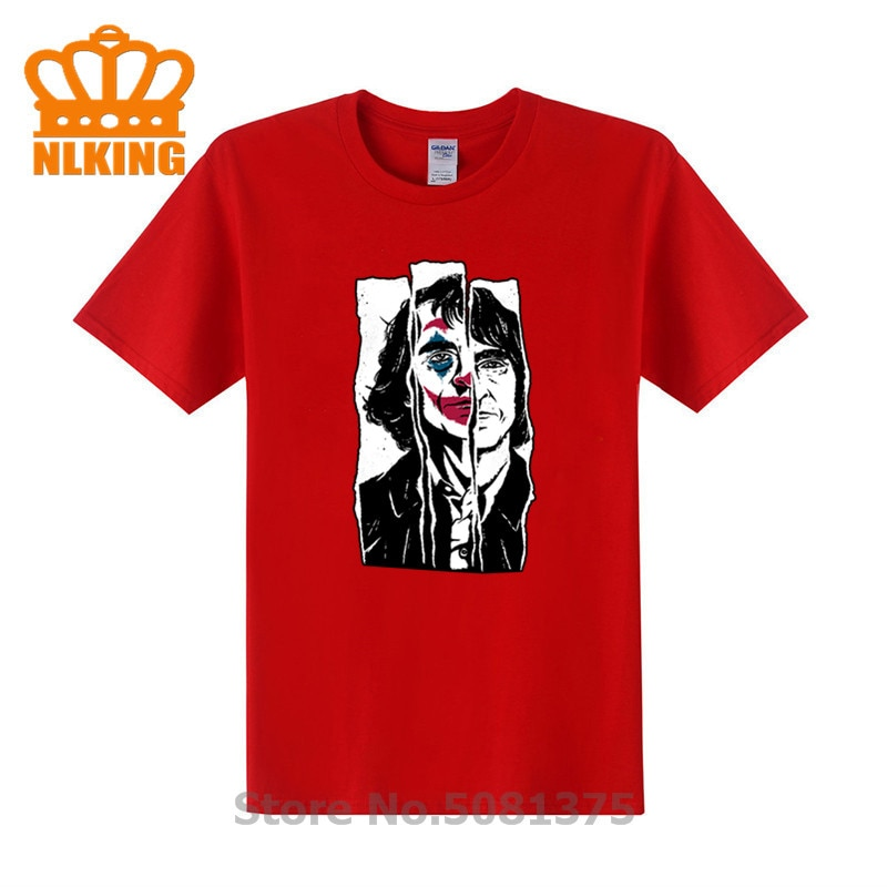 Camisetas con cara feliz Heath Ledger Harajuku, disfraz Gotham Joaquin Phoenix Comics, camiseta Joker payaso hombre xs-3xl