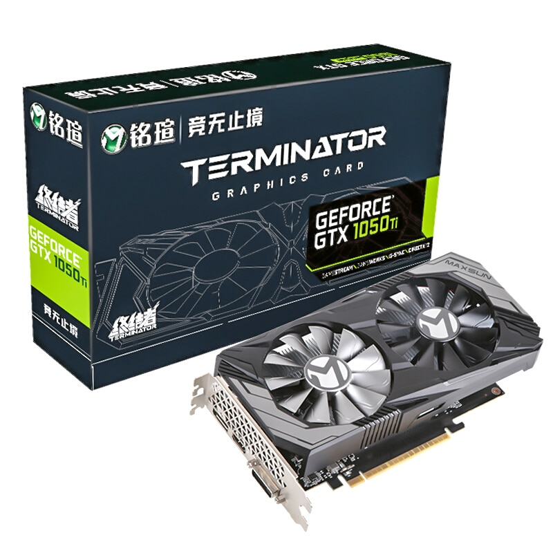 العلامة التجارية الجديدة MAXSUN GeForce GTX 1050Ti المنهي 4G الألعاب بطاقة جرافيكس 128bit/GDDR5/7000Mhz سطح المكتب بطاقة الفيديو