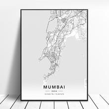 Mumbai Lucknow Nagpur Chennai Ahmedabad Ghaziabad inde toile Art carte affiche