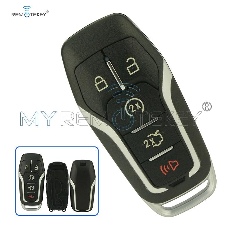 Smart remote key case 5 button 164-R7989 for Ford Edge Explorer Fusion 2015 2016 2017 M3N-A2C31243300 car Key shell Remtekey