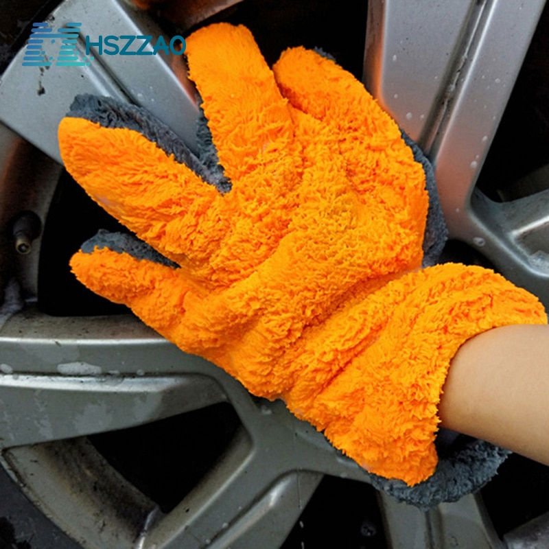 1 pcs 16 inch flexible blue car wash brush long microfiber noodle chenille alloy wheel cleaner 1 Pcs Ultra-Luxury Microfiber Car Wash Gloves Car Cleaning Tool Home use Multi-function Cleaning Brush Detailing