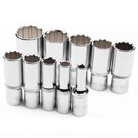 1pcs 78mm length 1/2 drive 12 point PT metric mirror Socket 8mm 9mm 10mm 11mm 12mm 13mm 14mm 15mm 16mm 17mm 18mm 19mm to 32mm