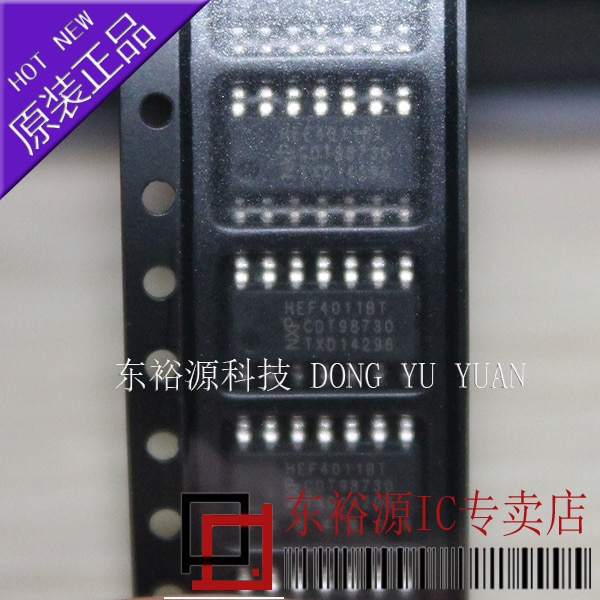 10 pces hef4011bt hef4011 sop14 ic novo e original