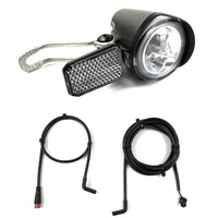 6 60v e bike headlight electric bicycle abs sm waterproof head light front lamp cycling universal durable spotlight accessories