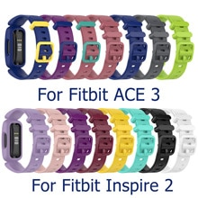 Cinturino da polso per Fitbit Ace 3 cinturino per orologio intelligente per bambini per Fitbit Inspire 2 cinturino in Silicone morbido di ricambio per cinturino classico