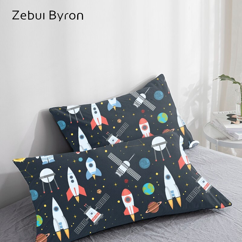 Funda de almohada 3D Rocket space, funda de almohada personalizada/50x7 0/50x75 funda decorativa para cojín, ropa de cama de dibujos animados para niños/bebés/niños