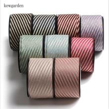 Kewgarden-rubans en Satin à rayures bronzantes   1