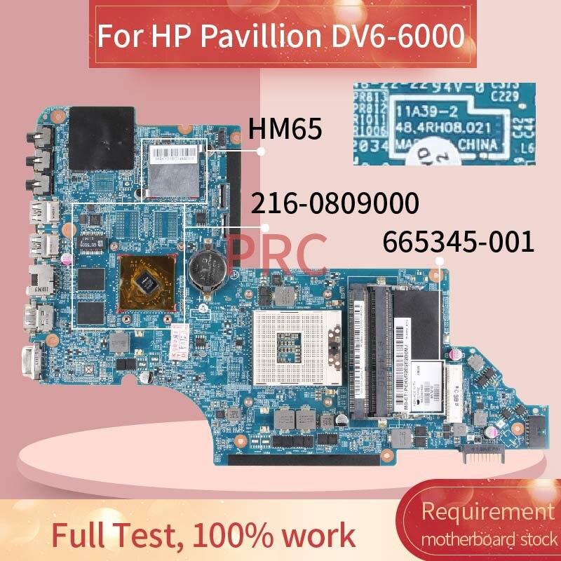 665345-001 665345-501 für HP DV6 DV6T-6B DV6-6000 HM65 HD7470M Notebook Mainboard 11A39-2 48,4 RH 08,021 Laptop Motherboard