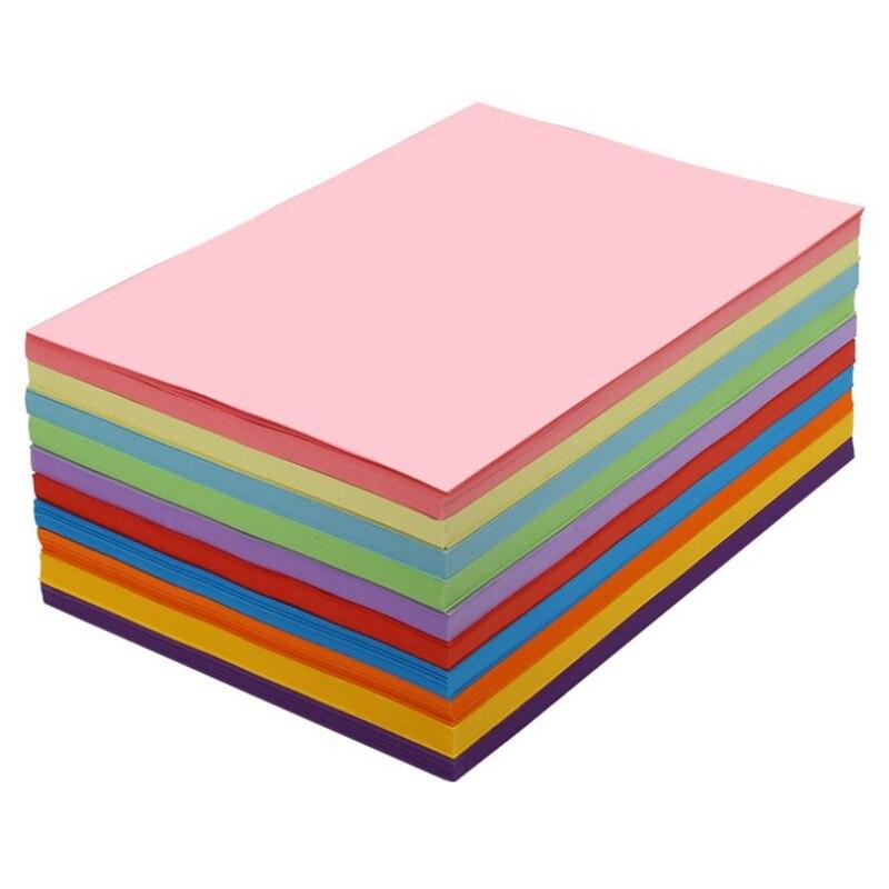 A4 цветная копировальная бумага белый двусторонний цветной ручной складной DIY